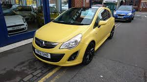 opel yellow used vauxhall corsa yellow for sale motors co uk
