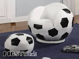 Bedroom Chairs With Ottoman by Soccer Theme Rooms Small Kids Soccer Chair With Ottoman Boys