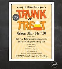 Church Halloween Costumes Trunk Treat Halloween Event Flyer Custom Printable