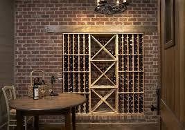 birmingham wall wine rack cellar rustic with brick walls racks