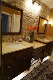 bathroom accent wall ideas mocha onyx splitface accent wall traditional bathroom