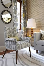 gray and yellow curtains contemporary living room para