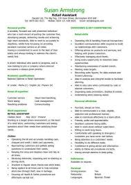 cv help winning exle of how to write a retail assistant cv