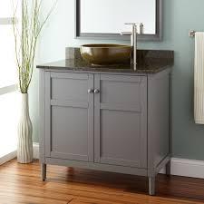 Powder Room Vanity With Vessel Sink Gray Beautiful Vanity Signature Hardware