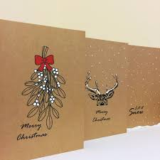 card set cards simple cards reindeer