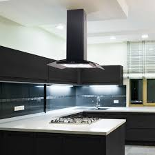 kitchen island extractor hoods 70cm island cooker curved glass black