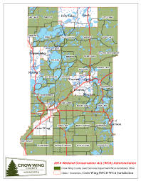 Mn Counties Map Wetland Conservation In Crow Wing County Mncrow Wing Soil U0026 Water