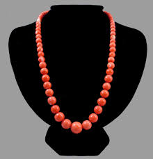coral bead necklace images Dreamy 18k salmon rosa coral bead necklace 48 7 grams sold jpg