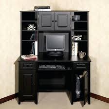 office design this home office desk black black glass computer