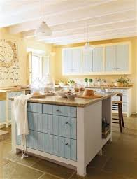 Light Blue Kitchen Cabinets by Kitchen Fascinating Blue And Yellow Kitchen Decoration Using White