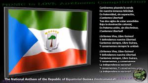 Equatorial Guinea Flag Equatorial Guinea National Anthem Instrumental With Lyrics Youtube