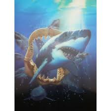 shark lenticular 3d picture animal poster painting home decor wall