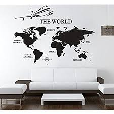 Amazon World Map Wall Decals Vinyl Art Sticker World