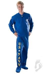 u s navy footed pjs u s navy footed pajamas one