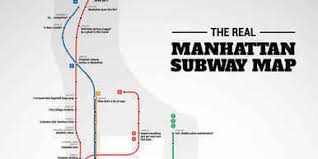 Map Of Manhattan Subway by The Real Manhattan Subway Map Huffpost
