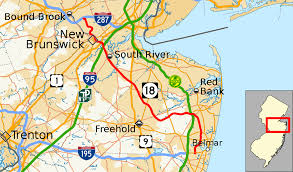 Map Of New Jersey Shore New Jersey Route 18 Wikipedia