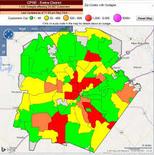 Cps Energy Outage Map High Winds Rain Cause Power Outages Knock Down Trees San