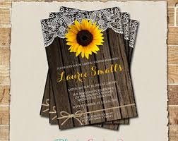 Sunflower Wedding Invitations Sunflower Wedding Invitation Sunflower And Teal Wedding