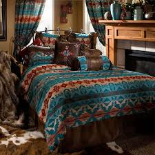Turquoise And Brown Bedding Sets Turquoise Chamarro Bedding Set Santa Fe Ranch