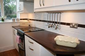 Kitchen Backsplash Photos White Cabinets Backsplashes White Glossy Subway Tile Backsplash Stripe Black