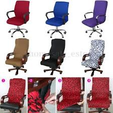 Purple Computer Chair Swivel Computer Chair Cover Stretch Office Armchair Protector Seat