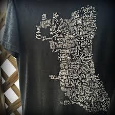Chicago Neighborhoods Map Chitown Clothing U2014 Chicago Neighborhoods Map T Shirt
