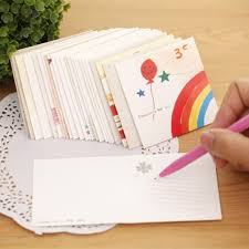 50pcs korean birthday card with envelope greeting cards