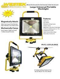 westek under cabinet lighting portable led flood lights led work lights cableorganizer com