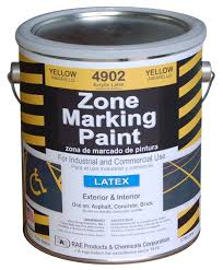 rae 4902 01 yellow latex zone marking paint 1 gallon painting