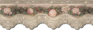 details about victorian rose u0026 lace wallpaper border vin7318db