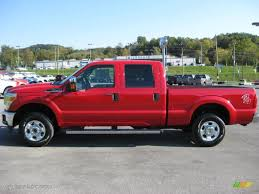 2011 vermillion red ford f250 super duty xlt crew cab 4x4