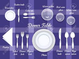 dining table arrangement proper arrangement of cartooned cutlery on dining table with