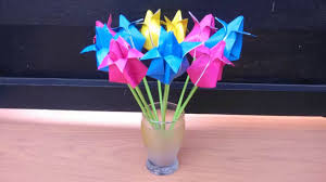 cara membuat origami bunga yang indah cara membuat origami bunga tulip youtube