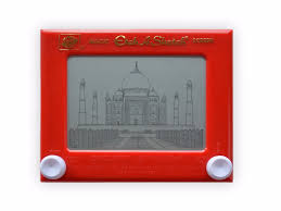 this artist draws iconic works of architecture using an etch a
