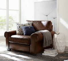 Sofa And Armchair Set Turner Roll Arm Leather Armchair Pottery Barn
