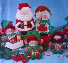 santa mrs claus elves decor sewing pattern sewing patterns
