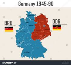 Cold War Germany Map by Germany Cold War Map Flags Eastern Stock Vector 481560253