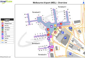 melbourne airport terminal map map of melbourne airport