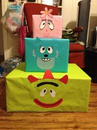 yo gabba gabba birthday cake3d cards 13 best what the heck do i do with my wilton shape pans images on