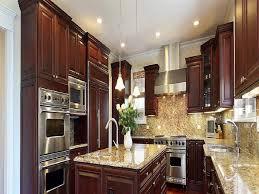 kitchen white wood wall cabinet black granite countertop white
