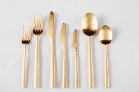 gold flatware rental introducing our new cutipol rondo matte gold flatware posh