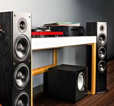 Polk Ceiling Speakers Uk by Polk T50 Black Floorstanding Speakers Pair Polk Audiovisual