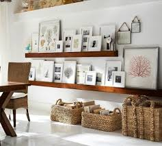 decorating with wall shelves and frames