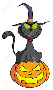 free jack o lantern clipart black witch cat sitting on top of a jack o lantern royalty free