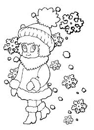 cute winter coloring pages winter coloring pages of