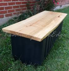 Storage Chest Bench Custom Live Edge Coffee Table With Storage Storage Trunk Modern