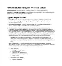 sample hr manual template 6 free documents in pdf