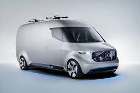 electric utility vehicles mercedes benz presents vision van an autonomous electric utility