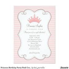 Princess Birthday Invitation Card Invitación De La Corona Del Rosa De La Fiesta De Coronas