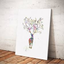 colormix elk painting printing canvas wall decor for home